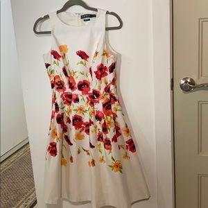 LRL fit & flare floral dress